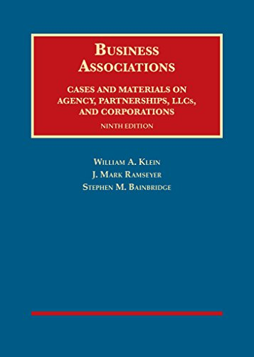 1609303490 - Business Associations, Cases and Materials on Agency, Partnerships, and Corporations (University Casebook Series)