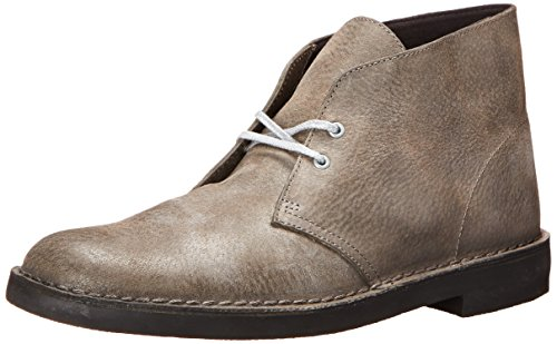 Clarks Men's Bushacre 2 Chukka Boot,Grey Leather,14 M US