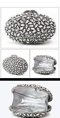Partito diamanti Amici 7x4inch Ornamento da Moda E sera Amante Donna Tempestato sera Borsette casa Brillante da Borsa clutch della Per Borsa Ballo di 18x11cm D Famiglia qwEO1