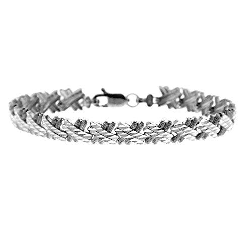 Petits Merveilles D'amour - 14 ct Or Blanc Bracelet - Baguette Bracelet