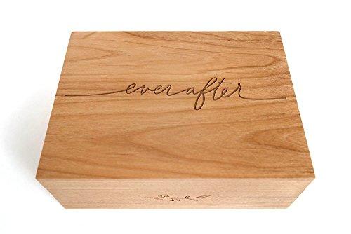 - Ever After Laser Cut Wood Keepsake Box (Wedding Gift / 5th Anniversary / Heirloom / Decorative / Handmade)