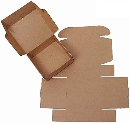 Caja regalo Kraft para decorar y montar 75 x 75 x 30 mm DIY ...