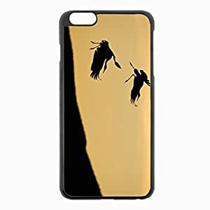 iPhone 6 Plus Black Hardshell Case 5.5inch - birds pair stork silhouette slope sky Desin Images Protector Back Cover