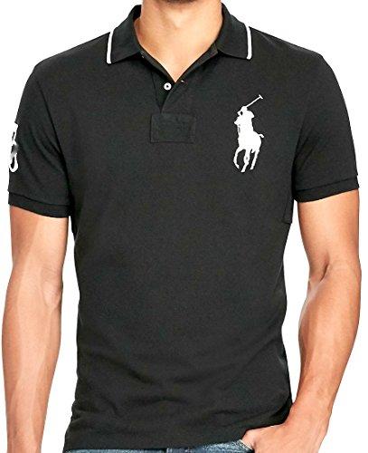 Ralph Lauren Polo Men's Big & Tall Mesh Classic Fit Big Pony Polo Shirt (2LT, Polo Black/White) ()