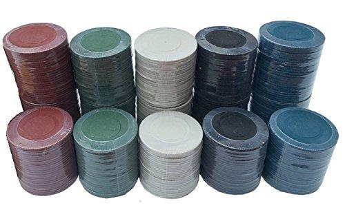 150fichas de ruleta y póker de casino–en 5colores Misc