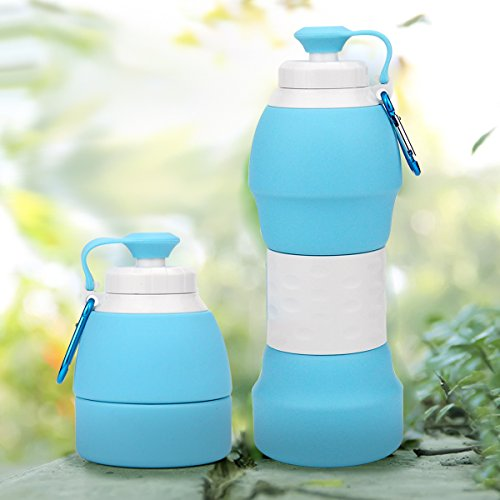 0d98fcab9104 Haiesee Collapsible Water Bottle, Lightweight Silicone Travel Mug, FDA  Approved BPA Free Leak Proof Foldable Sports & Outdoor Water Bottles Pass  for ...