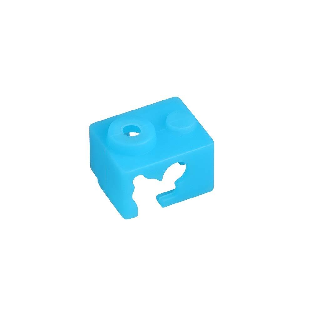 SOOWAY riscaldamento alluminio blocco cover Competiable con V6 in silicone resistente alle alte temperature fino a 280 gradi 2 pz blu