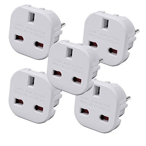 TB1 Products 5 x EU TRAV Travel Adapter