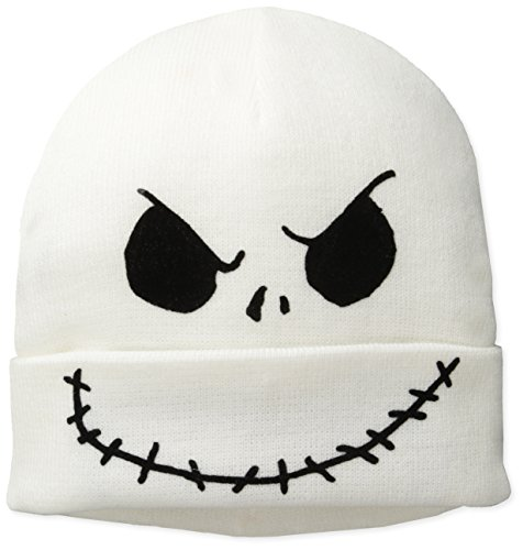 Nightmare Before Christmas Men's Jack Flip Mask Beanie, Whit