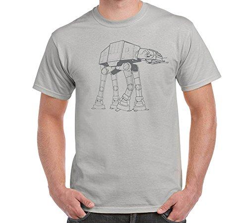 [AT-AT Walker Star Wars Grey Men's T-Shirt (4XL)] (Star Wars At At Walker)