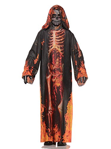 [Underworld Burning Skeleton Child Robe (Large 10-12)] (Mens Halloween Costume Ideas Last Minutes)