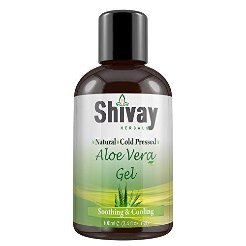 Shivay Herbals Cold Pressed Natural 90% Aloe Vera Gel 3.4 oz