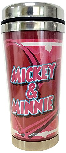 Westland Giftware Stainless Steel and Acrylic Travel Mug, Mickey and Minnie, 16 oz, Multicolor