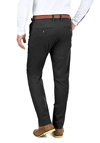 Machico Extensible Black Chino 9000 Coupe Homme Pantalon Régulaire solid Ceinture PwqXdFP8