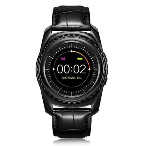 Wenjuan TQ912 Heart Rate Blood Pressure Monitor Slot Wrist Waterproof Bluetooth Smart Watch (Black)