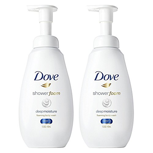 - Dove Shower Foam - Foaming Body Wash - Deep Moisture - Net Wt. 13.5 FL OZ (400 mL) Per Bottle - Pack of 2 Bottles
