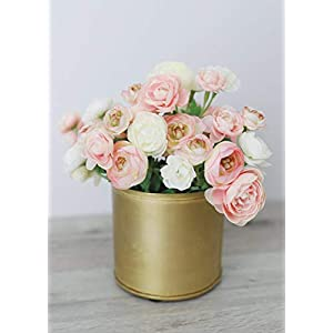 "Allstate Mini Silk Ranunculus Bush in Pink Ivory - 10"" Tall 67"
