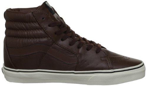 Vans U SK8-HI (AGED LEATHER) - Zapatilla alta de cuero unisex marrón - Braun ((Aged Leather))