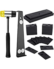 Manste 43Pcs Laminate Wood Flooring Installation Kit with 40Pcs Spacers, Ruber Hammer, Heavy Duty Pull Bar and Upgraded Tapping Block Flooring Installation Tools Kit