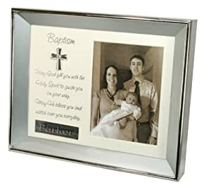 Stephan Baby Silver Plated Keepsake Shadow Box Frame, Baptism (Discontinued by Manufacturer)