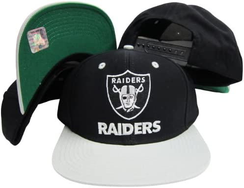 Amazon.com   Reebok Los Angeles Raiders Word Black Silver Two Tone Plastic  Snapback Adjustable Plastic Snap Back Hat Cap   Sports Fan Baseball Caps    Sports ... a5a00fe73