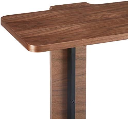 Amazon Brand -Rivet C-Shaped End/Side Table, 48 x 35 x 60cm, MDF with Walnut Veneer