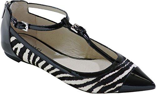 Michael Michael Kors Women's Brena Flats (7.5, Black/White)