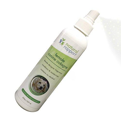 Natural Dog Cologne Spray - 3-in-1 Natural Deodorizer Spritz for Dogs - Also Moisturizes and Softens Coat - Designer Fragrance No Alcohol - 8 fl oz (Female)