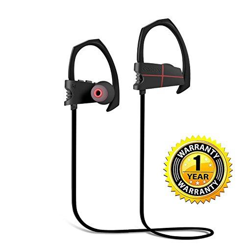 Canbor Écouteurs Bluetooth,Oreillette sans Fil Bluetooth 4.1 avec Mic Casque Sportif Stéréo,Headphones IPX5 Étanche,Oreillette Anti-bruit