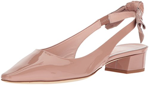 Kate Spade New York Women's Lucia Heeled Sandal, Fawn Patent, 7.5 Medium US