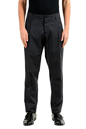 Dolce & Gabbana Men's Striped Pleated Dress Pants US 34 IT - It And Dolce Gabbana