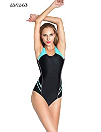 Sunsea One Piece Swimsuit, Athletic Swimsuit for Women, Sports Swimwear for Ladies, Racerback