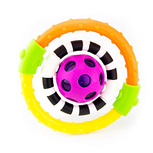 Sassy Spin and Chew Flex Ring Rattle