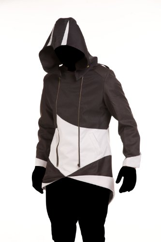 Price comparison product image iFigure Cosplay Costume Hoodie Jacket for Adult and Child Black&White