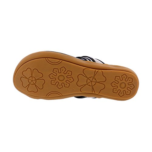 Bolaro - Women Flower Toe Ring Padded Insole Slip On Sandal - Black Black/Toe Ring XAAbsr7x