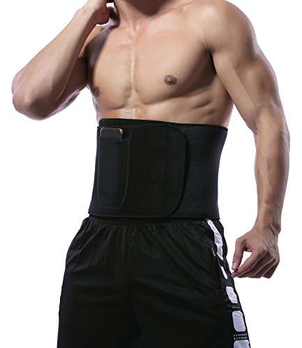 KIWI RATA Premium Neoprene Waist Trimmer Belt Hot Sweat Slimming Body Shaper Wrap for Fat Burner,for Men & Women For Sale