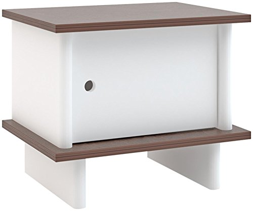 Oeuf Ml Nightstand - Walnut, White