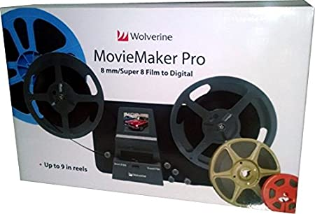 Film 2 Digital Movie Maker/&8mm Film Scanner Black with 32 GB SD Card 8mm /& Super 8 Reels to Digital MovieMaker Film Sanner,Pro Film Digitizer Machine with 2.4 LCD