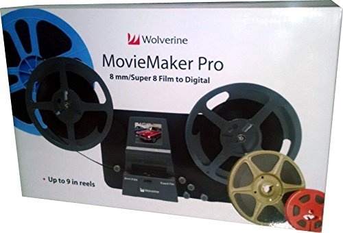 Wolverine 8mm & Super 8mm Reels to Digital MovieMaker Pro Film Digitizer,  Film Scanner, 32GB SD Memory Card, Dual Voltage 100-240V Power Supply