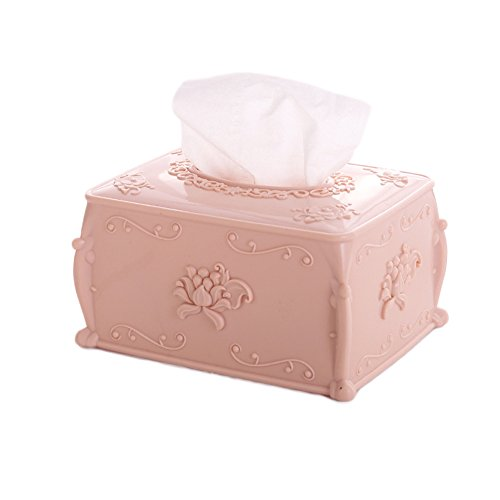 Finance Plan Vintage European Carving Style Tissue Box,Paper Case Storage Holder,Home Decor