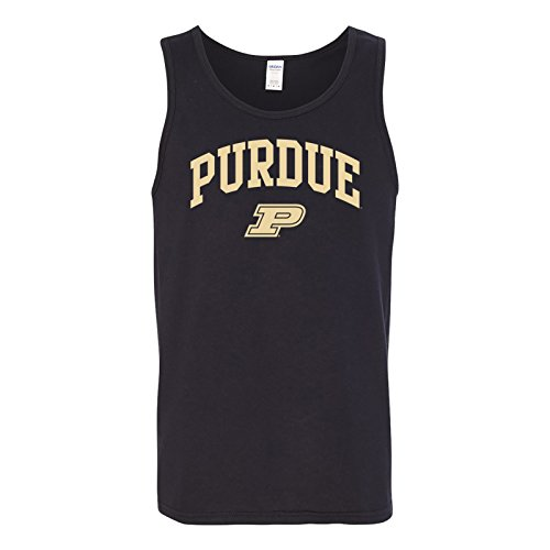 UGP Campus Apparel AT03 - Purdue Boilermakers Arch Logo Mens Tank Top - Medium - - Mens Promotional Apparel