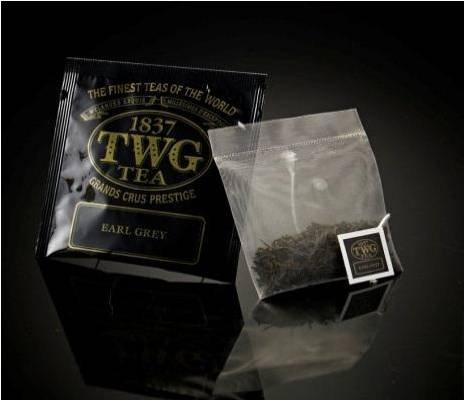 TWG Singapore - Luxury Teas - EARL GREY - BULK PACK - 100 silk teabags by TWG Singapore - Luxury Teas - EARL GREY