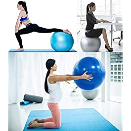 BalanceFrom Anti-Burst and Slip Resistant Exercise Ball Yoga Ball Fitness Ball Birthing Ball with Quick Pump, 2,000-Pound Capacity