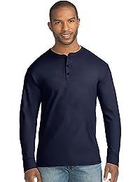 Mens X-Temp w/Fresh IQ Long Sleeve Henley T-Shirt
