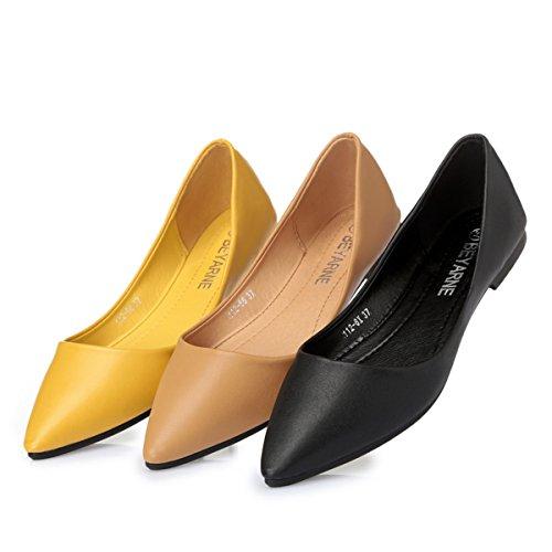 Donne Moda Classica Casual Scarpe A Punta A Punta Comfort Morbido Slip On Flats Scarpe S-9