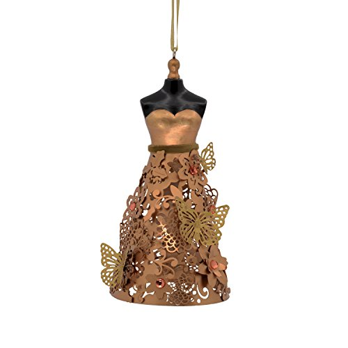 Hallmark Signature Premium Christmas Ornament Butterfly Dress, Metal (Butterfly Copper Hangers)