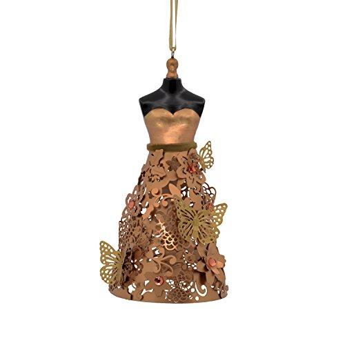 Hallmark Signature Premium Christmas Ornament Butterfly Dress, Metal (Butterfly Copper Hangers)