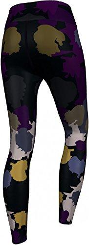 Tiefsee Camo Leggings sehr dehnbar für Sport, Gymnastik, Training, Tanzen & Freizeit schwarz/lila