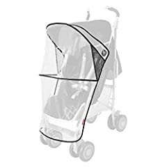 A necessity for every buggy, the premium wind-resistant raincover protects your child from rain, wind, and snow allowing for safe ventilation. Our clear raincover lets your child look out and you keep a close watch. It fastens quickly and sec...