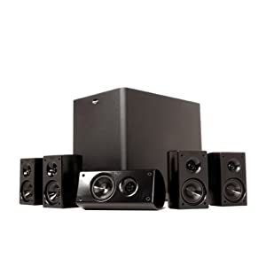 HD 300 Compact 5.1 High Definition Theater System (Set of Six, Black)